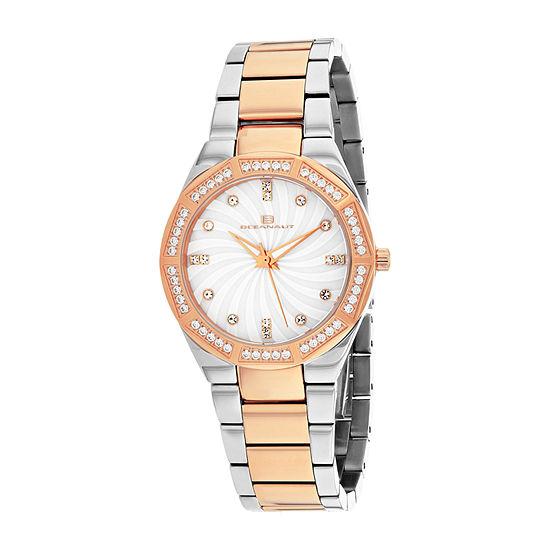 Oceanaut Womens Two Tone Stainless Steel Bracelet Watch-Oc0251