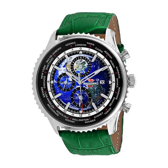 Sea-Pro Mens Green Strap Watch-Sp7133