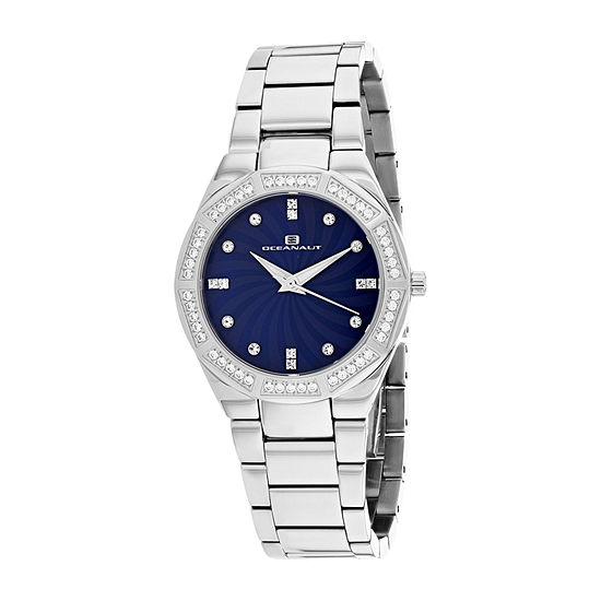 Oceanaut Womens Silver Tone Stainless Steel Bracelet Watch-Oc0255