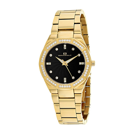 Oceanaut Womens Gold Tone Stainless Steel Bracelet Watch-Oc0257