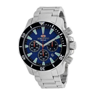Sea-Pro Mens Silver Tone Bracelet Watch-Sp8344