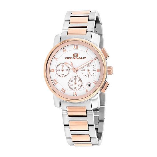 Oceanaut Womens Two Tone Stainless Steel Bracelet Watch-Oc0637