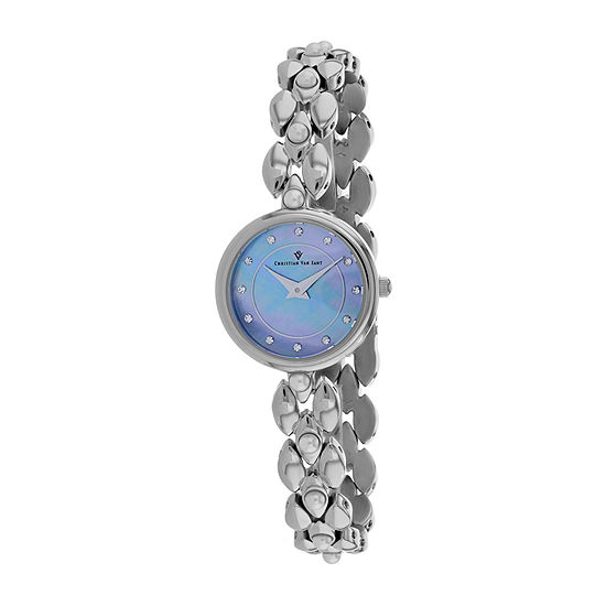 Christian Van Sant Womens Silver Tone Bracelet Watch Cv0611