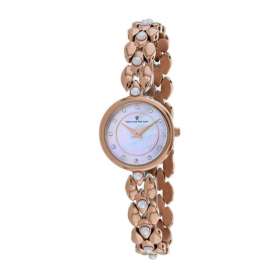 Christian Van Sant Womens Rose Goldtone Stainless Steel Bracelet Watch-Cv0615