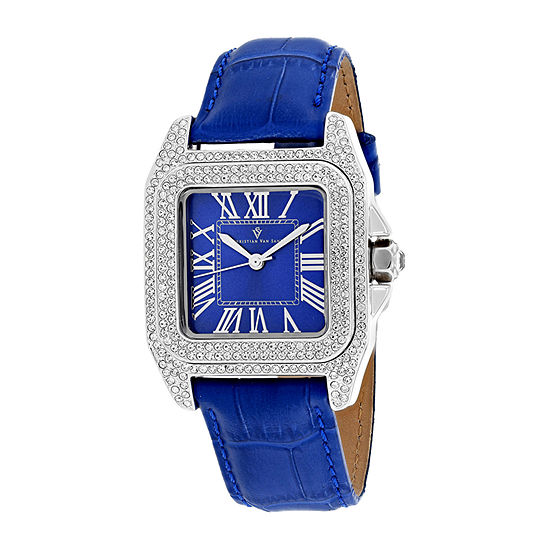 Christian Van Sant Womens Blue Stainless Steel Strap Watch-Cv4421