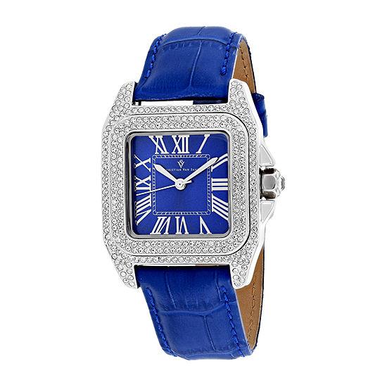 Christian Van Sant Womens Blue Strap Watch-Cv4421