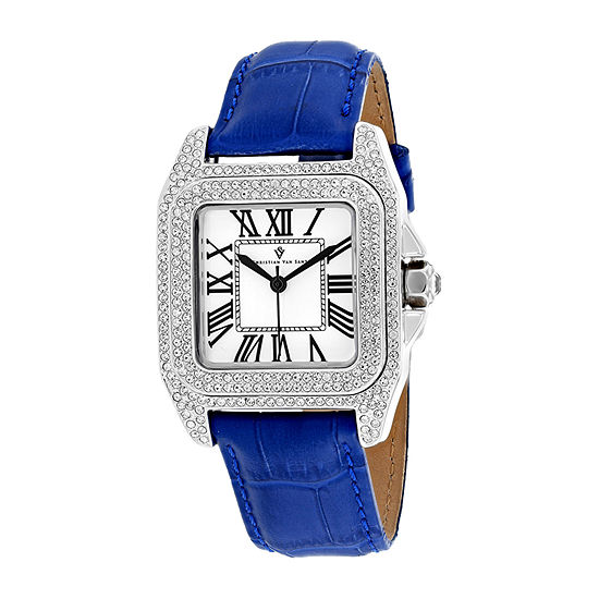 Christian Van Sant Womens Blue Stainless Steel Bracelet Watch-Cv4422