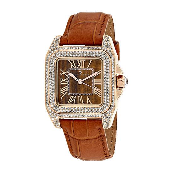 Christian Van Sant Womens Brown Bracelet Watch Cv4423