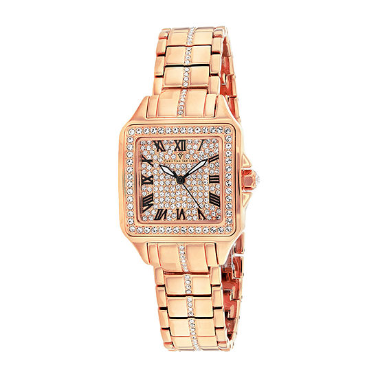Christian Van Sant Womens Rose Goldtone Stainless Steel Bracelet Watch-Cv4622