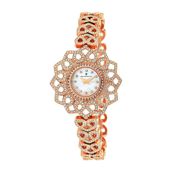 Christian Van Sant Womens Rose Goldtone Stainless Steel Bracelet Watch - Cv4812