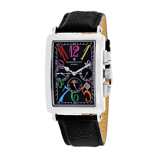 Christian Van Sant Mens Black Strap Watch Cv9132