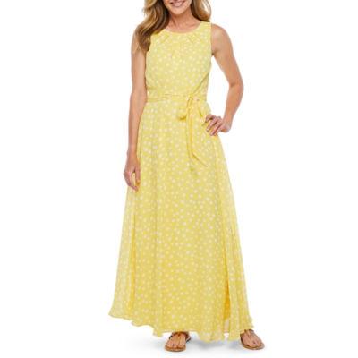 R & K Originals Sleeveless Dots Maxi Dress
