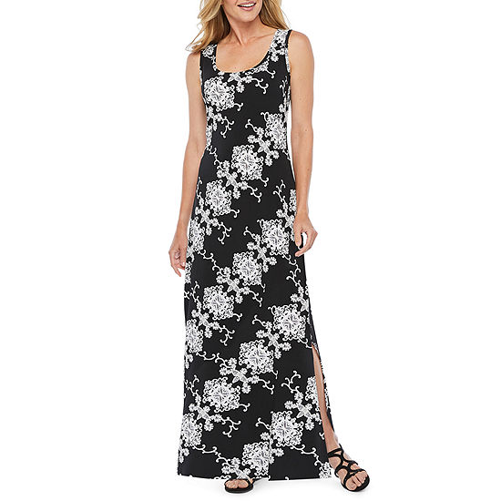 82bea4c39ec Ronni Nicole Sleeveless Scroll Puff Print Maxi Dress - JCPenney