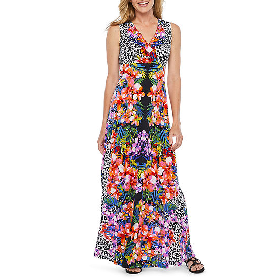 01a030290c6 Ronni Nicole Sleeveless Floral Maxi Dress - JCPenney