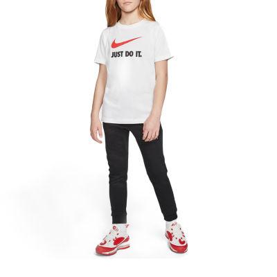 Nike Girls Scoop Neck Short Sleeve Graphic T-Shirt-Big Kid