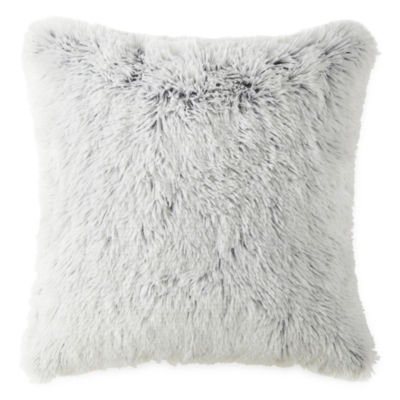 Home Expressions Faux Fur Square Throw Pillow