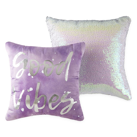 Home Expressions Good Vibes 2-Pack Square Throw Pillow (14x14 and 16x16 inch)