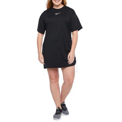 Nike Short Sleeve T-Shirt Dress - Plus