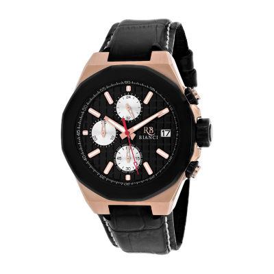 Roberto Bianci Mens Black Strap Watch-Rb0133