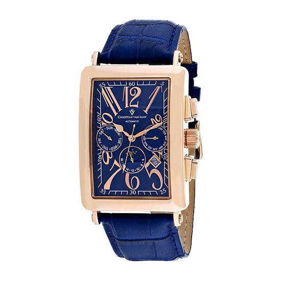 Christian Van Sant Mens Blue Strap Watch-Cv9142