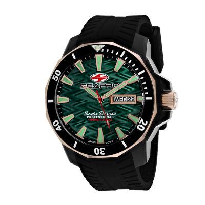 Sea-Pro Mens Black Strap Watch-Sp8324