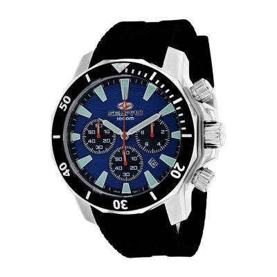 Sea-Pro Mens Black Strap Watch-Sp8344r