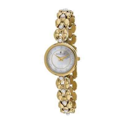 Christian Van Sant Womens Gold Tone Bracelet Watch-Cv0616