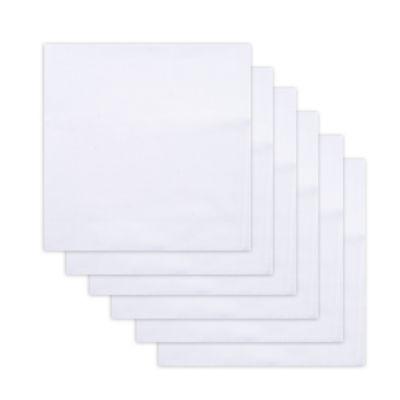 Dockers® 6 Piece Broadcloth Men's Handkerchief Set