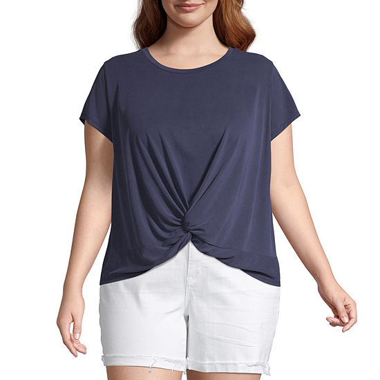 Arizona- Round Neck Short Sleeve T-Shirt Juniors Plus