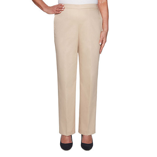 Alfred Dunner Womens Society Page Straight Pull-On Pants