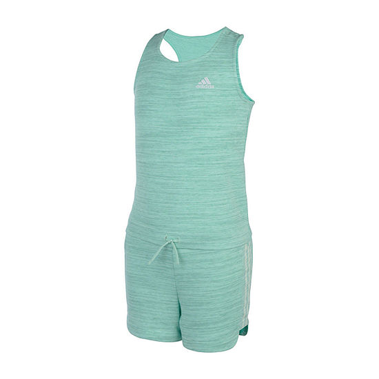 adidas Girls Sleeveless Romper - Preschool