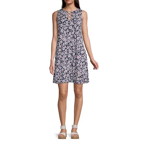 MSK Sleeveless Floral Swing Dresses