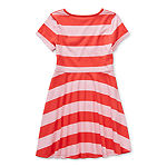 Arizona Little & Big Girls Short Sleeve Skater Dress