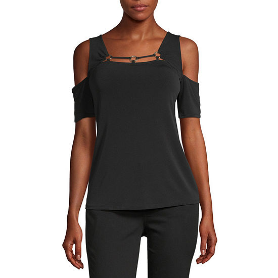Bold Elements Womens Square Neck Short Sleeve T-Shirt