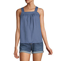 Deals on A.n.a Womens Square Neck Sleeveless Tank Top