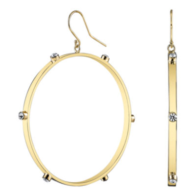 DOWNTOWN BY LANA Gold-Tone Crystal Hoop Earrings