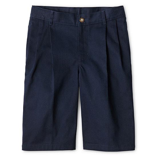 Izod Boys Adjustable Waist Chino Short Big Kid