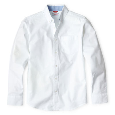 IZOD® Long Sleeve Oxford Shirt - Boys 8-20