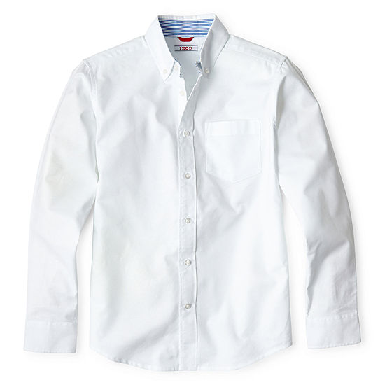 IZOD Big Boys Long Sleeve Button-Down Shirt