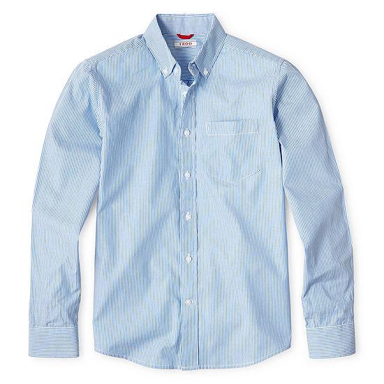 Izod Long Sleeve Oxford Shirt Boys 8 20