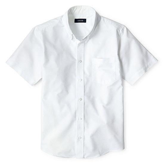 Izod Boys Short Sleeve Button-Front Shirt Preschool