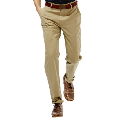 Haggar® Straight-Fit Flat-Front Performance Cotton Slacks