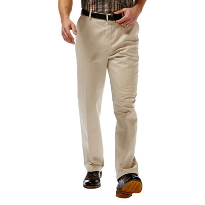 Haggar® Work to Weekend® Classic-Fit Flat-Front Khakis