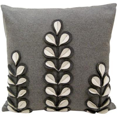 Idea Nuova White Florals Decorative Pillow