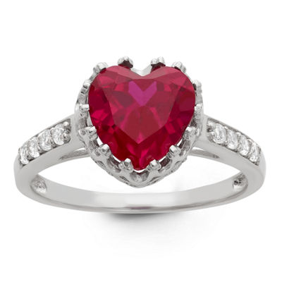 Lab Created Ruby Sterling Silver Ring