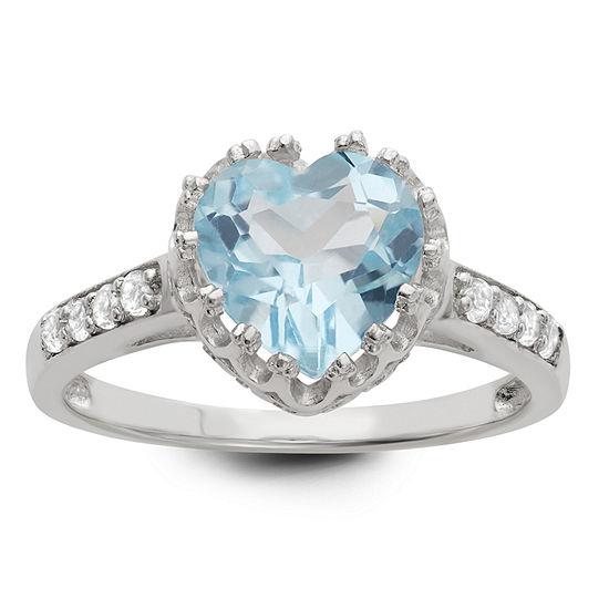 Genuine Sky Blue Topaz Sterling Silver Ring