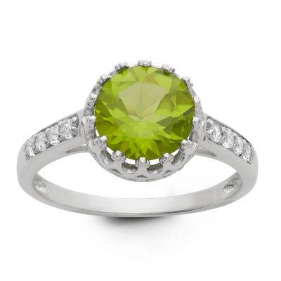 Genuine Peridot Sterling Silver Ring