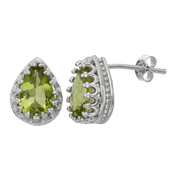 Genuine Peridot Sterling Silver Earrings