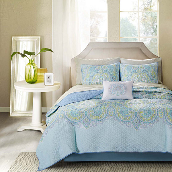 Madison Park Carly Coverlet Bedding Ensemble