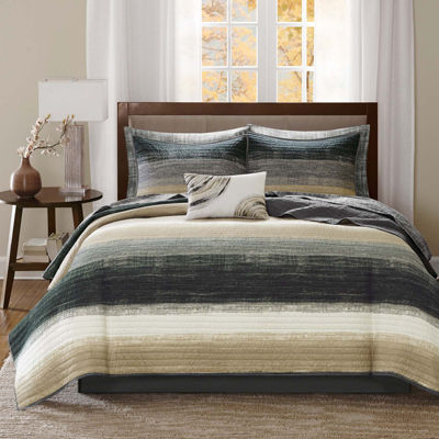 Madison Park Essentials Barret Coverlet Set